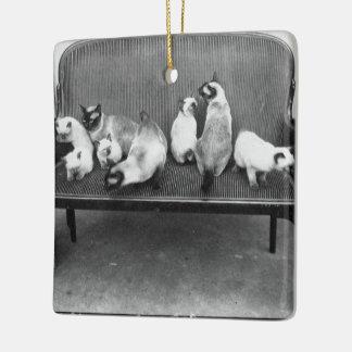 Exhibition Cat Club - Mondial 494 Ceramic Ornament