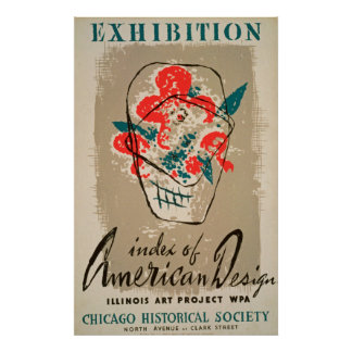 Exhibition Historical Society Vintage Poster