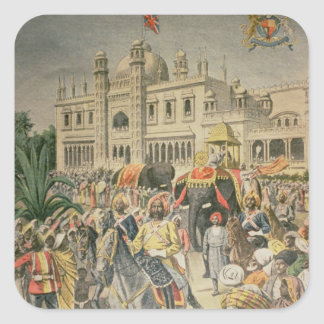 Exhibition of 1900: the Anglo-Indian Pavilion Square Sticker