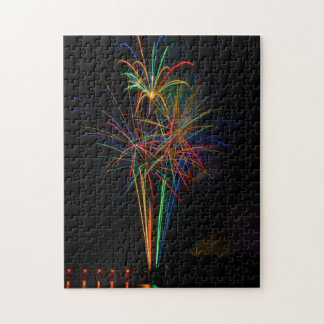 Exhibition of colors in fireworks jigsaw puzzle