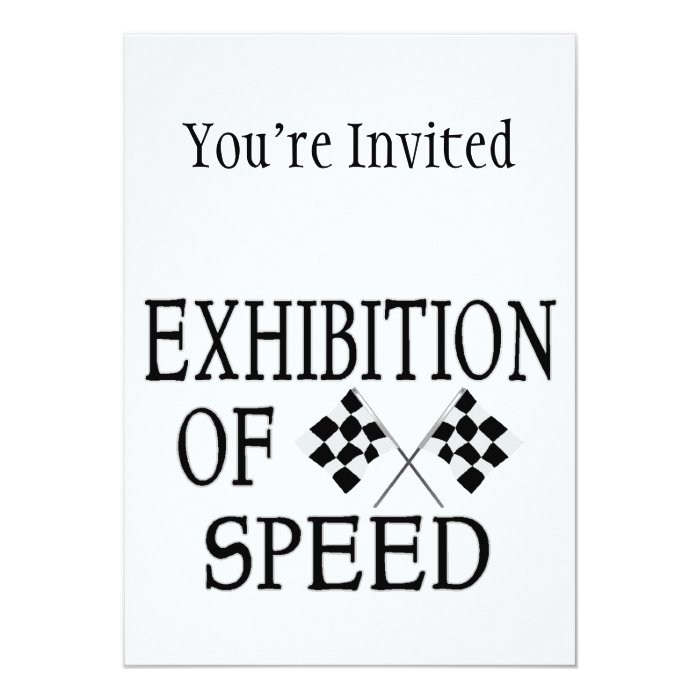 Exhibition Of Speed Checkered Race Flags Card