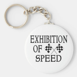 Exhibition Of Speed Checkered Race Flags Keychain