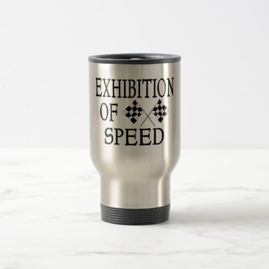 Exhibition Of Speed Checkered Race Flags Travel Mug