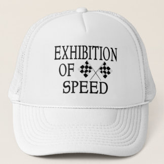 Exhibition Of Speed Checkered Race Flags Trucker Hat