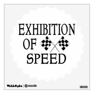 Exhibition Of Speed Checkered Race Flags Wall Decal