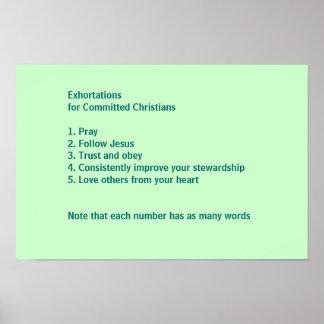 Exhortaciones para los cristianos confiados póster