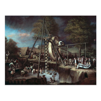 Exhumation of the Mastodon, 1806 Postcard