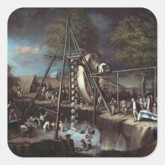 Exhumation of the Mastodon, 1806 Square Sticker