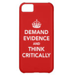 Exija las pruebas y piense críticamente