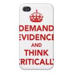 Exija las pruebas y piense críticamente iPhone 4 carcasa