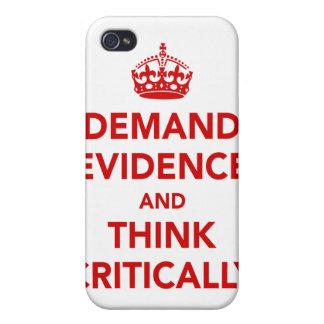 Exija las pruebas y piense críticamente iPhone 4/4S funda