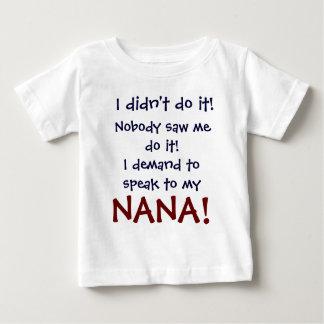 Exijo hablar a mi camiseta de Nana Playeras