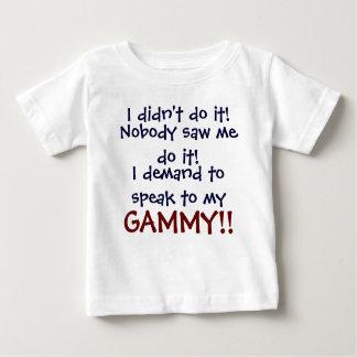 ¡Exijo hablar a mi GAMMY! Camiseta infantil Playera