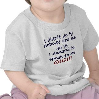 ¡Exijo hablar a mi GIGI! Camiseta infantil