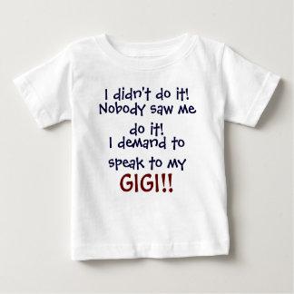 ¡Exijo hablar a mi GIGI! Camiseta infantil Playera