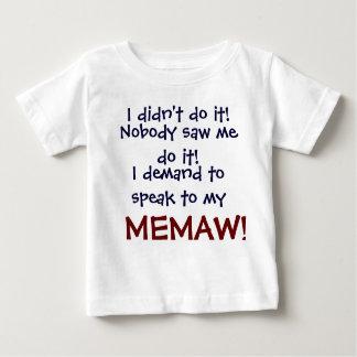 ¡Exijo hablar a mi MEMA! T-Shi del niño infantil Playera De Bebé