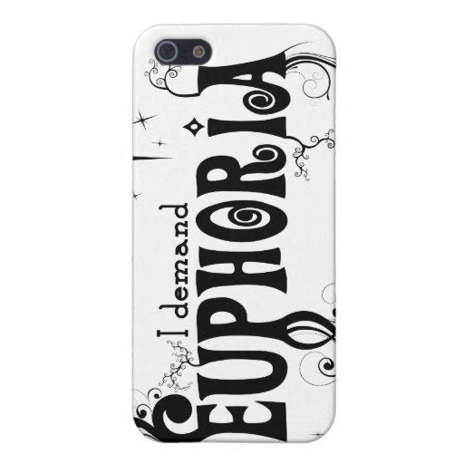 Exijo la euforia - remolinos del negro, estrellas, iPhone 5 carcasas