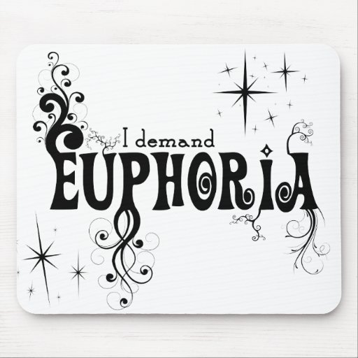 Exijo la euforia - remolinos del negro, estrellas, tapetes de raton