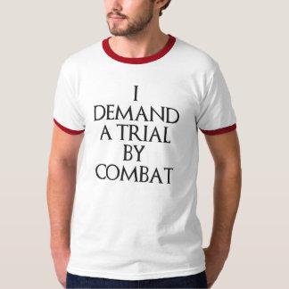 Exijo un ensayo por combate camisas