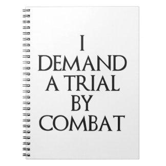 Exijo un ensayo por combate spiral notebooks