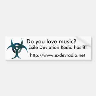 Exile Deviation Radio Bumper Sticker