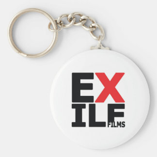 Exile Films Basic Round Button Keychain