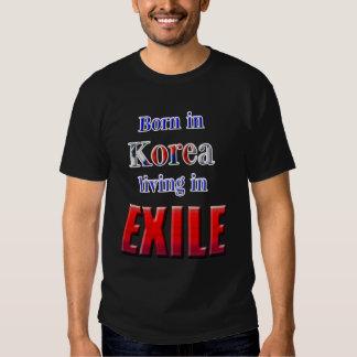 EXILIO coreano Camisas