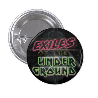 Exilios del botón subterráneo (negro) pin redondo de 1 pulgada