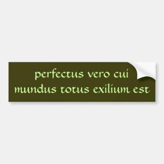exilium est del totus del mundus del cui del vero  pegatina para auto