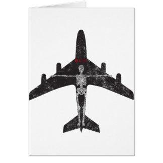 Exist Skeleton Plane tee Card