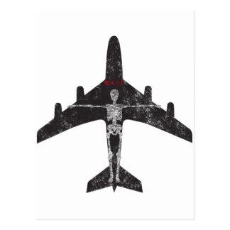 Exist Skeleton Plane tee Postcard