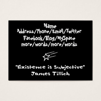 Existence Is Subjective Business Card