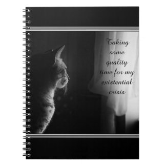 Existential Crisis Spiral Notebook