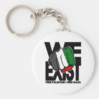 Existimos - Palestina libre - Gaza libre Llavero Redondo Tipo Pin