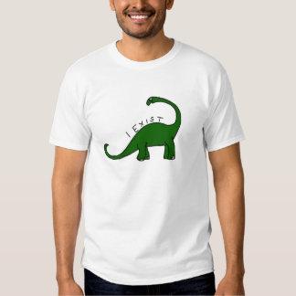 Existo camiseta del dinosaurio del Brontosaurus Playera