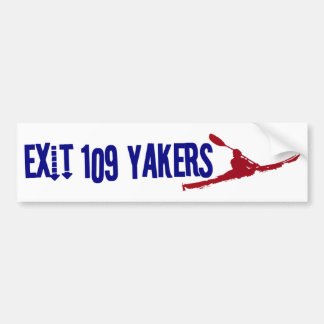 Exit 109 Yakers Bumber Sticker White