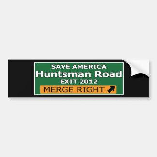 Exit 2012 Huntsman Road Bumper Sticker