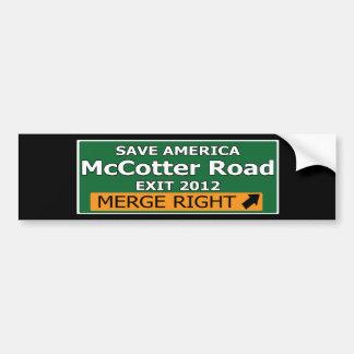 Exit 2012 McCotter Road Bumper Sticker