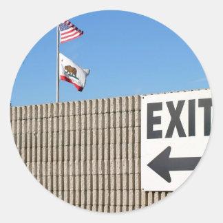 Exit Classic Round Sticker