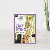 Exit Dying pulp novel cover print Note Card