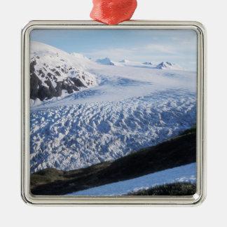 Exit Glacier in Kenai Fjords National Park, Metal Ornament