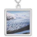 Exit Glacier in Kenai Fjords National Park, Square Pendant Necklace
