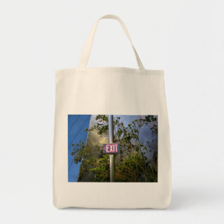 Exit Sign Canvas Bags