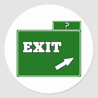 ? Exit sign Classic Round Sticker
