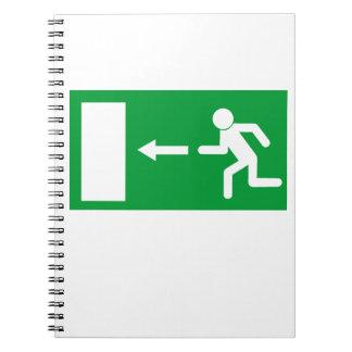 Exit Sign Spiral Notebook