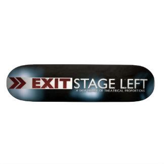 EXIT Stage Left Logo Skateboard