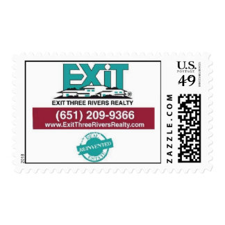Exit Three Rivers Realty Postage Stamps