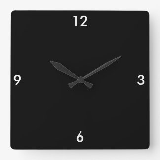 Exit, Way Out Square Wall Clock