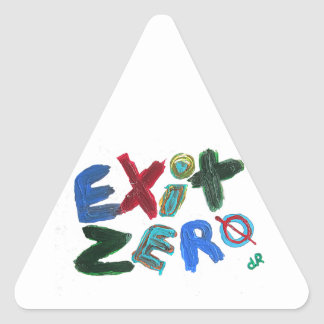exit zero triangle sticker