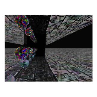 Exiting Spheres Postcard